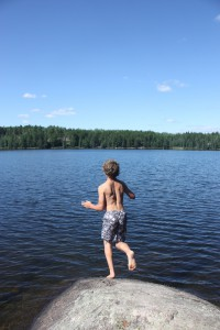 Cooling off in a Boundary Waters lake
