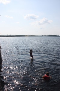 Boundary Waters Cliff jumping