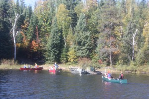 Canoeing at Voyageur Canoe Outfitters
