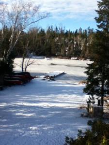 SEagull River frozen
