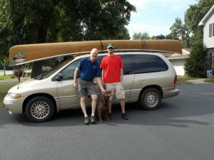 Securing a canoe to a vehicle