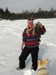 Ice fishing fun