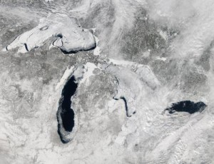 Ice Coverage on the Great Lakes