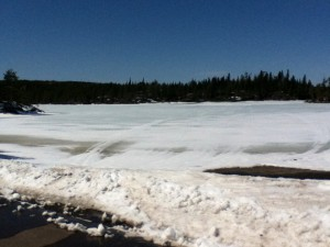 Photo of Gull Lake at end of Gunflint Trail