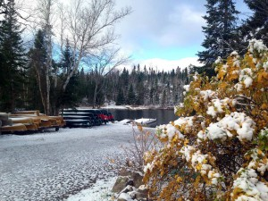 Snowy Halloween on the Gunflint Trail