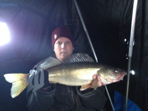 Mark's brother with a nice walleye