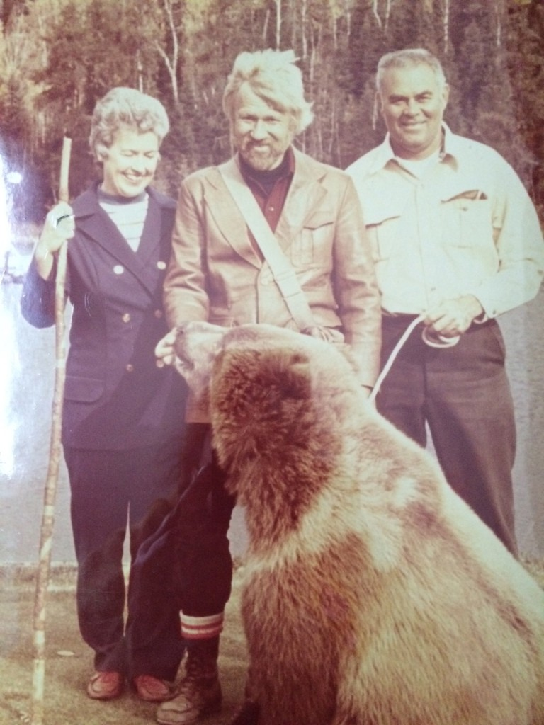 Sascha the Bear with Griffis and Earl