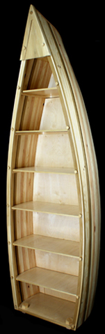 canoe casket bookshelf