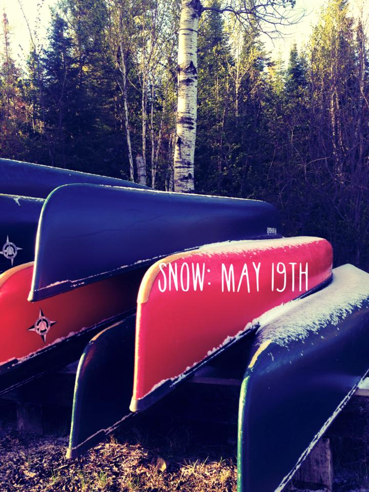 BWCA canoe trip with snow