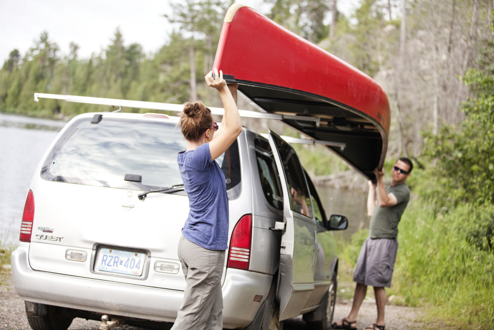 canoe transportation Gunflint Trail