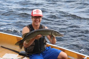 fishing for northern pike in the BWCA