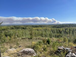 wildfire in the BWCA