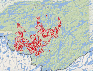 fires in the Quetico Park